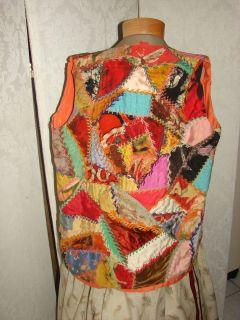 RARE 1920s Taos Art Colony Helen Martin Batik Crazy Quilt Vest Top