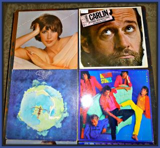 Lot of 8 Vintage Vinyl Records ~ Steppenwolf David Bowie George Carlin