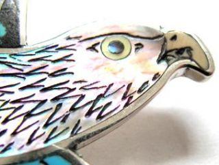 Harlan Coonsis Amazing Red Tail Hawk Pin Pendant