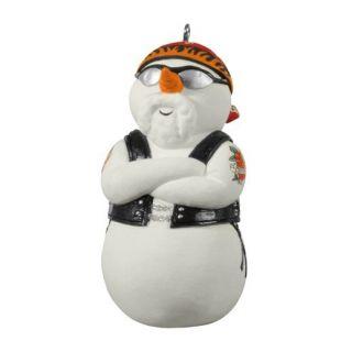 Hallmark 2012 Snowy Rider Harley Davidson Motorcycles Snowman Ornament