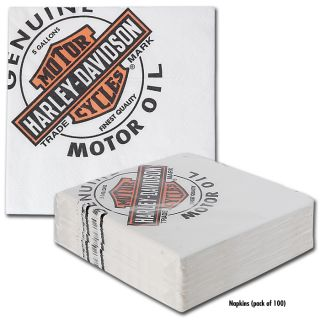 HARLEY DAVIDSON OIL CAN BAR CADDY REFILL NAPKINS   100/PKG   NEW