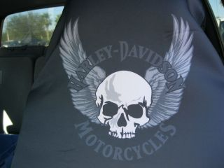 Harley Davidson Bikes Trucks Cars Skull Seat Covers