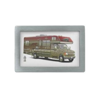 Custom Recreational Vehicle Rectangular Belt Buckle