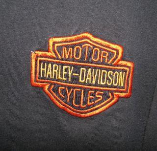 Black Embroidered Harley Davidson Tshirt Size Large JNCO Denim