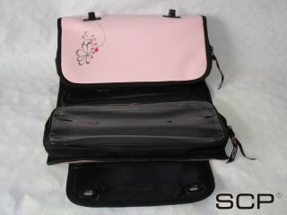SCP Pink Blk Roll Bag Fits All Hair Straighteners Irons