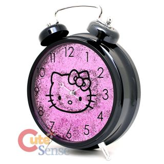 Sanrio Hello Kitty Alarm Table Clock Watch Purple Shine 2