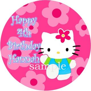 Hello Kitty Round Edible Cake Image Icing Topper