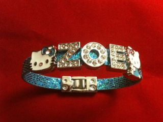 Hello Kitty Bracelet w Name 2 Hello Kitty Charms