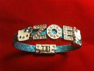 Hello Kitty Bracelet w Name 2 Hello Kitty Charms