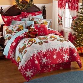 Reindeer Christmas Holiday Comforter Sheets Bedding Set New