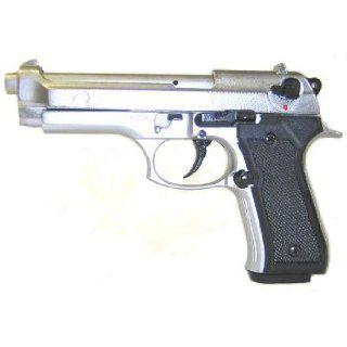 9mm F92   Silver Finish Blank Firing Starter Pistol Toys