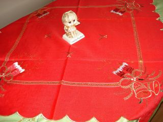 Holiday Candles embellishments Sequins embroidered 36 Square Table