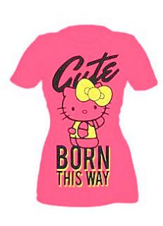 Hello Kitty Pink Cute Born This Way Yellow Bow Shirt