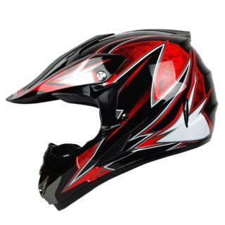 XL PGR Dragon Black Red Buggy ATV Off Road MX Quad Dot Helmet