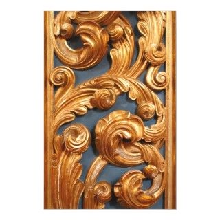 Golden Wood Carving Pattern Photographic Print