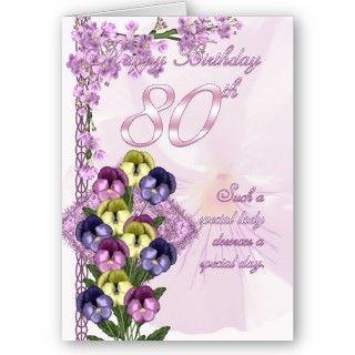 80.o Tarjeta de cumpleaños para una señora especia de