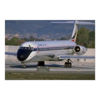 Delta Airlines MD 80 Poster