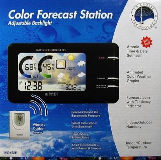Wireless Color Weather Station Thermometer Atomic Clock