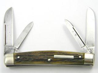 Vintage 40s 50s J.A. HENCKELS Pocket Knife 923 4 blade CONGRESS