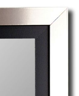 Silver Black Hanging Wall Mirror Made in USA Hitchcock Butterfield