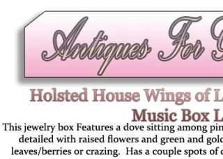 Holsted House Wings of Love Collection Dove Jewelry Music Box