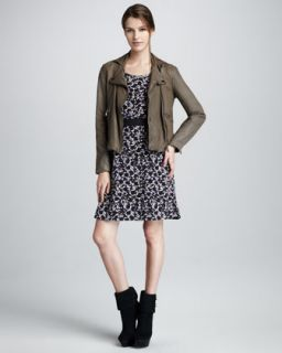 41BM MARC by Marc Jacobs Sergeant Leather Jacket & Exeter Printed