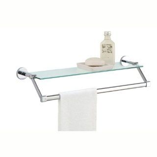 Glass Shelf with Towel Bar   Chrome