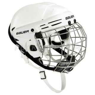 Bauer 2100 White Hockey Helmet with Cage