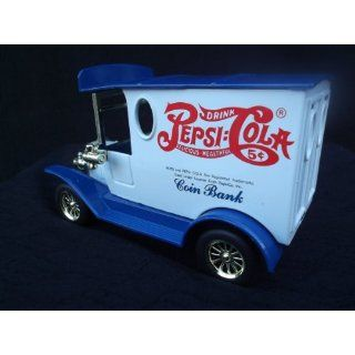 PEPSI DELIVERY TRUCK DieCast Metal COIN BANK with Key