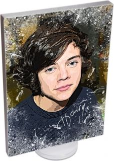 One Direction on Canvas Art with Autographs Ideal Birthday Gift Signed