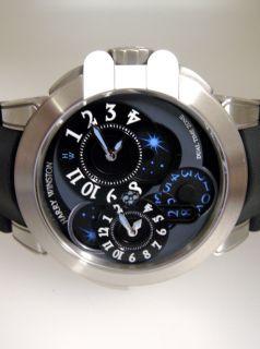 Harry Winston Z4 Zalium Dual Time Zone Limited Edition Watch 95 LNIB