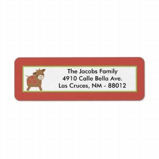 75x2.25 Return Address Label Red Barn