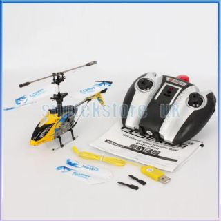 Channel RC IR Infrared Remote Control Helicopter Toy w/ Gyro   Yellow
