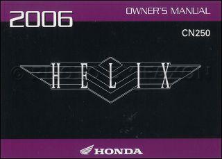 2006 Honda Helix Scooter Owners Manual Original CN250 Owner Guide Book