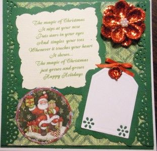 HANDMADE MAGNOLIA TILDA   MAGIC OF CHRISTMAS   boxed card   SSDT