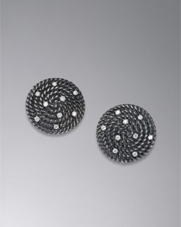 David Yurman Stud set, Black Diamond