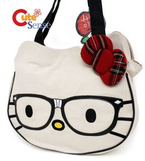 Sanrio Hello Kitty Nerd Face Tote Bag Loungefly Nerd Face Cut Canva