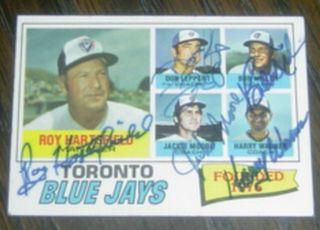 Autographed Hartsfield D 2011 Miller D 1993 Leppert 1977 Topps Card