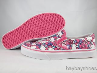 Vans Classic Slip on Hello Kitty Pink White Purple Blue Heart Bear Men