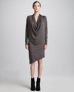 HELMUT Draped Jersey Dress