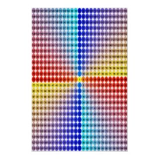 Spiral Multiplication Table   Square (Fitted) Posters