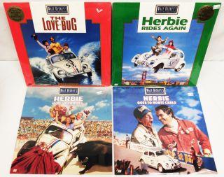 Herbie Laserdisc Lot The Love Bug Herbie Rides Again Herbie Goes