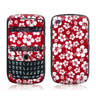 Aloha Red Design Skin Decal Sticker for Blackberry Curve