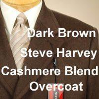 44R Steve Harvey Cashmere Wool Blend Mens Overcoat Topcoat Coat 44