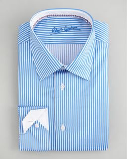 Stefano Ricci Striped Dress Shirt, Blue/Yellow   Neiman Marcus