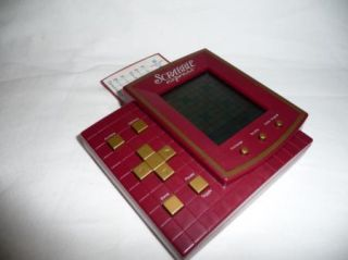 RARE Scrabble Express Electronic Handheld Hasbro Game 4 Games 9 Levels