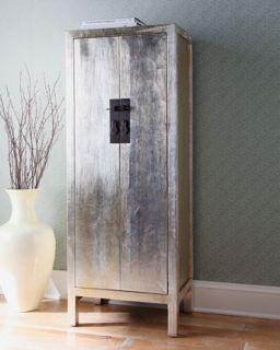 Antique Silver Leaf Cabinet