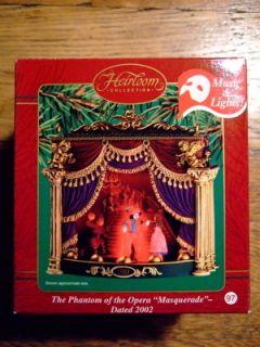 Of The Opera Carlton Cards Christmas Music & Lights Ornament 2002 NIB