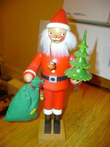 nice west germany wooden santa figure handmade