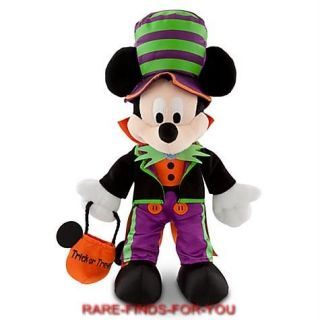 Mickey Mouse 2012 Halloween Plush Doll Toy 12 H Disney Parks